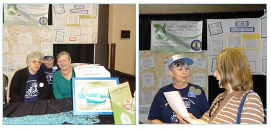 Siuslaw Genealogy Society booth
