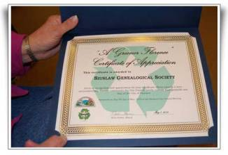 City Council Certificate